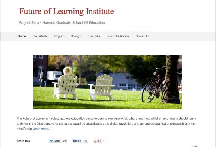 Building the Future of Learning Site