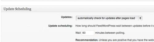 update scheduling