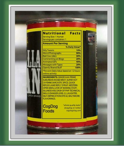A remixable, editable label for a mysterious can of me....