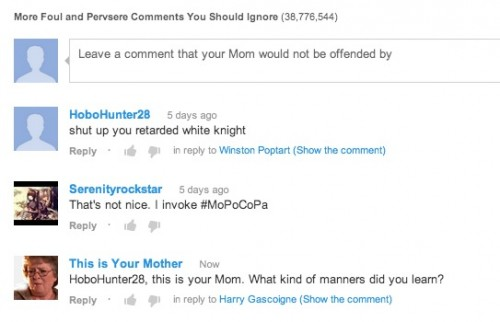 mom comment power