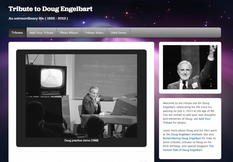 A Domain of Someone Else's: Crafting the Doug Engelbart Tribute site on WordPress.com