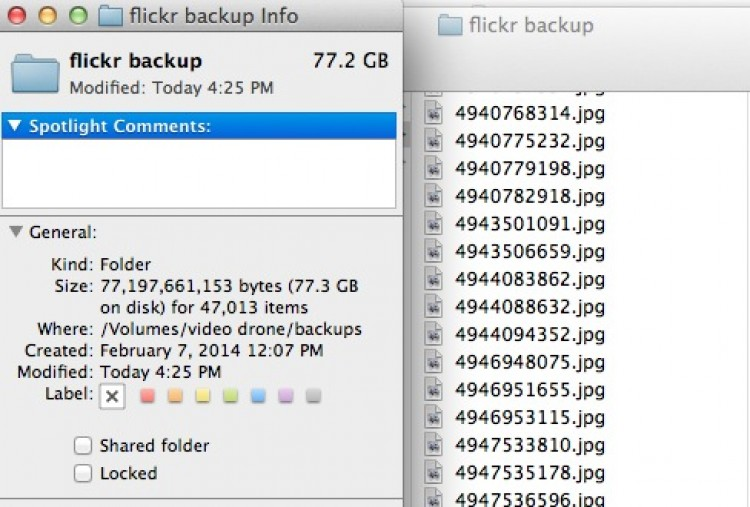 Ten Years of Flickr Photos Weighs in at 75 Gb