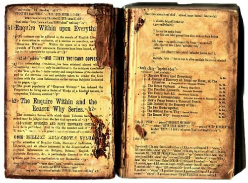 The old Victorian book with a bit of modern web markup ;-)