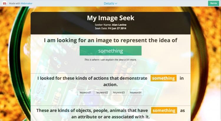 Image Seek: A Mozilla Thimble Make