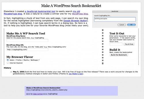 make a search