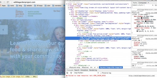 Inspecting elements and using the Developer Tools to try custom CSS)