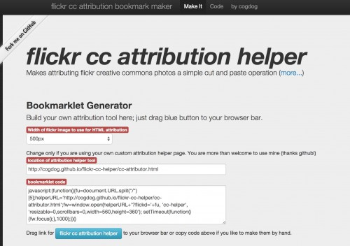 Flickr CC Attribution Helper for WordPressers (and
