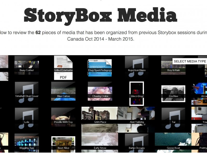 The Storybox Materializes at ETUG