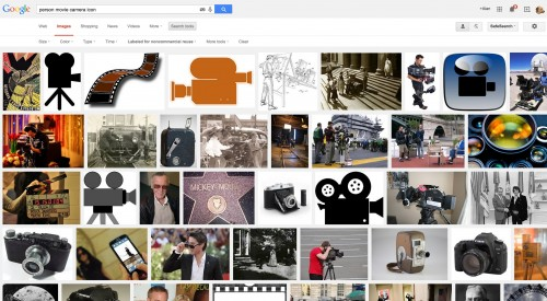 Looking for an icon of a person behind a camera, one odd result in the mix...