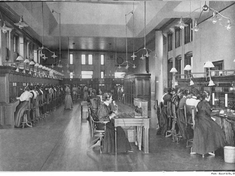 Verizon's Modern Telephone Network… if this was 1895