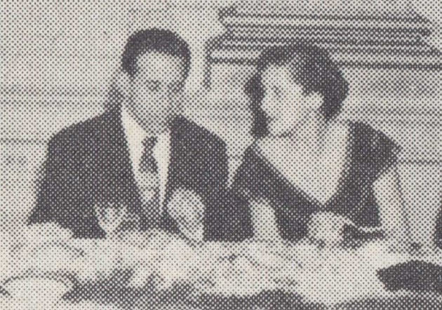 My grandfather and grandmother at the Baltimore Contractors 1952 Xmas part