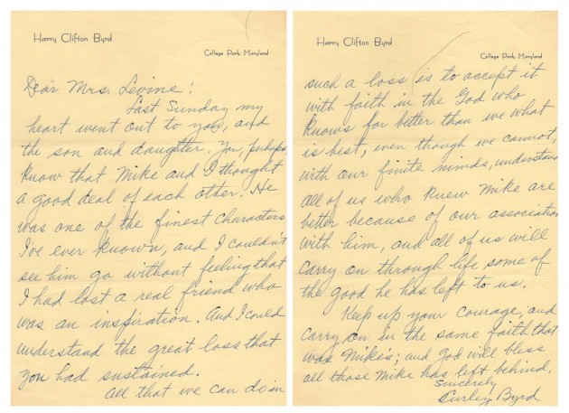 Letter to my grandmother form Curley Bird