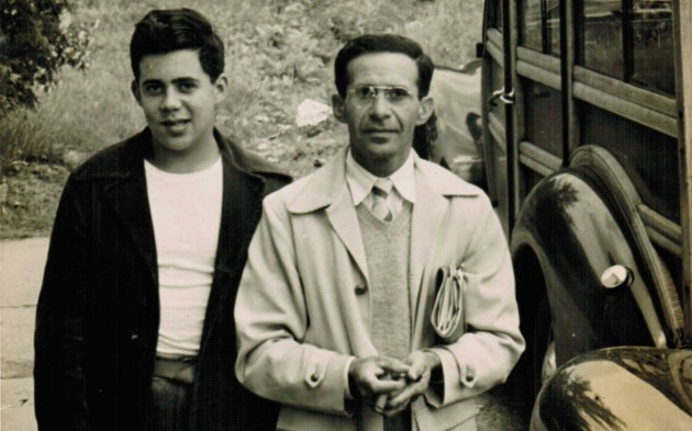 My teenage dad with his father (?? maybe 1940?) Both of them turn out to be distance learners!