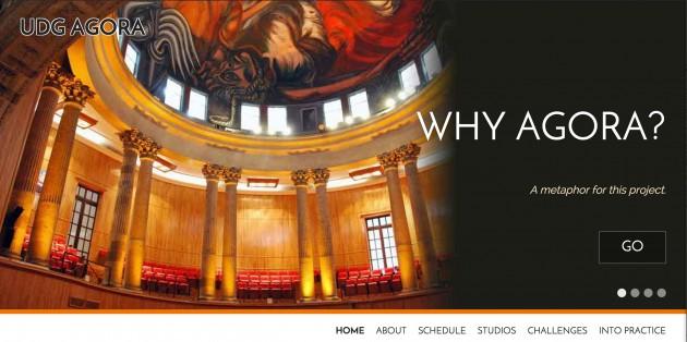 The UdG Agora main site