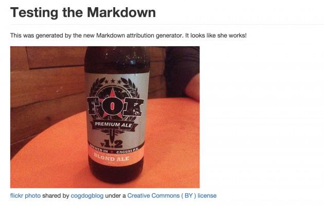 flickr attribution shown in Markdown