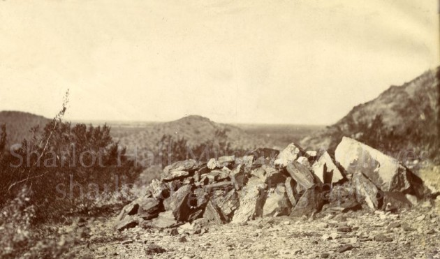 Grave of Clarence H. Shaw, near Squaw Peak, Arizona, C.1902 from Sharlot Hall Museum arhives