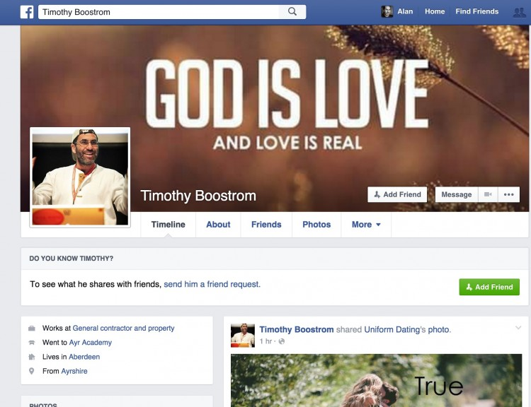 Catfishing is [NOT] Love and Timothy Boostrom is [NOT] Real