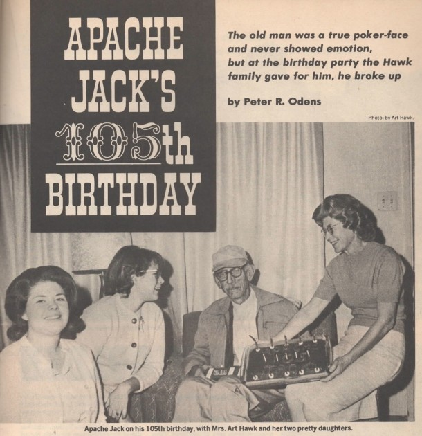 page 36 of Golden West (August 1973) article about Apache Jack