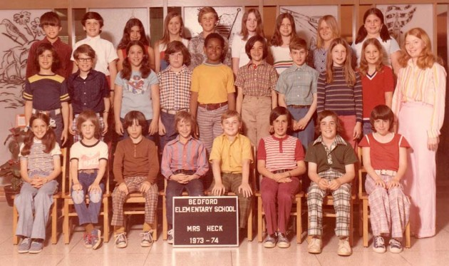 Can you find me in this class photo?