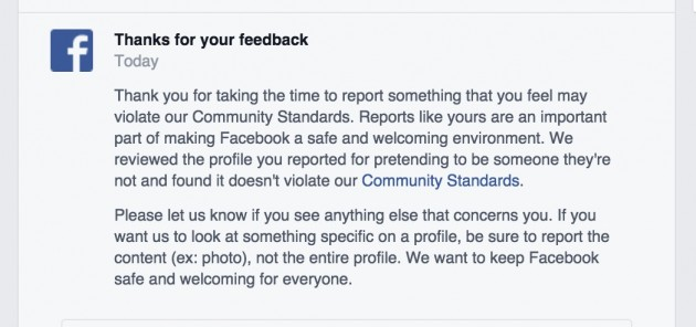 The Logic of Facebook Fake Account Reviews: It Just Does Not