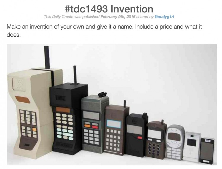 The Inventiveness of a Simple #DS106 Daily Create