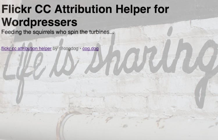 Forking Your Way into the Flickr CC Attribution Helper
