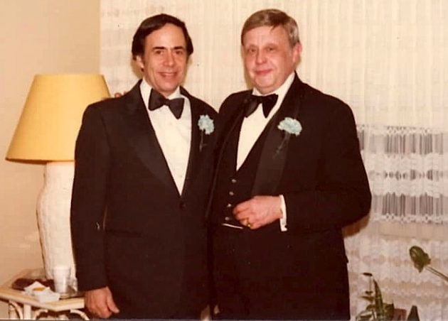 """Dad and """"Uncle"""" George, his best friend,"""