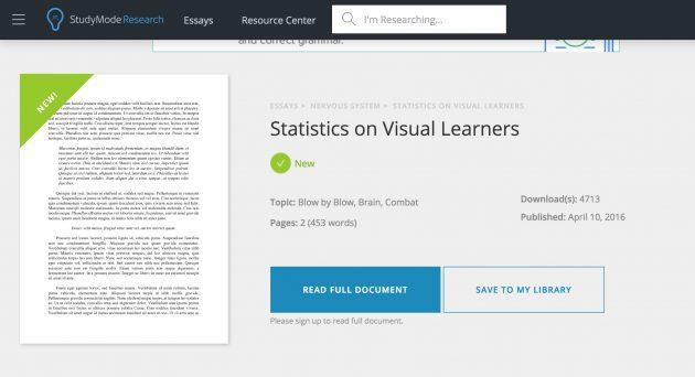 statistics on visual leanrners