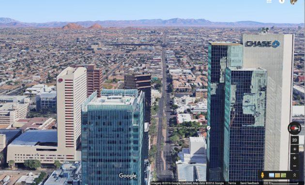 Google Streetview image looking east on Van Buren Avenue