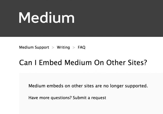 Medium giveth features and it taketh away