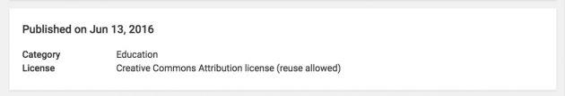 license-on-video