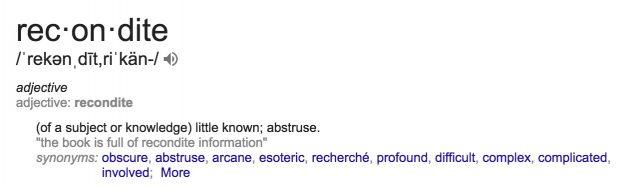 recondite-definition