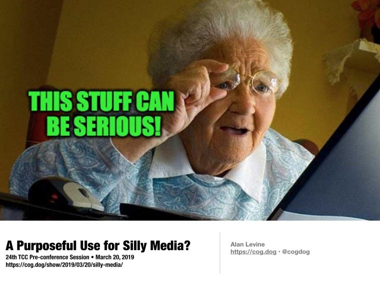 "A meme image of ""Grandma discovers the internet"" with text ""This can be serious"""