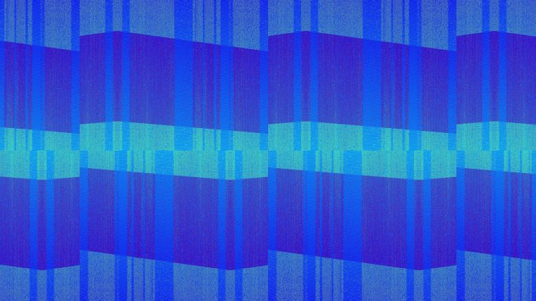 Blue and green spectrum of geometric patterns
