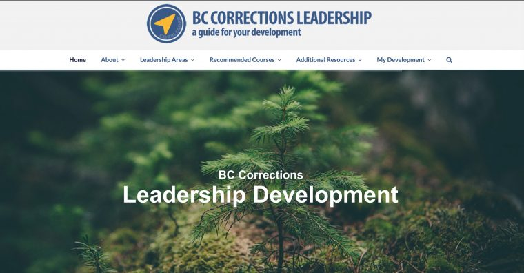 Web site for BC Corrections Leadership Development